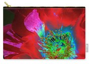 Stylized Flower Center Carry-all Pouch