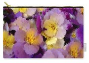 Sugared Pansies Carry-all Pouch