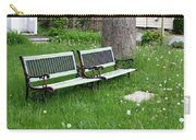 Summer Bench And Dandelions Carry-all Pouch