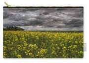 Summer Storm Clouds Over A Canola Field Carry-all Pouch