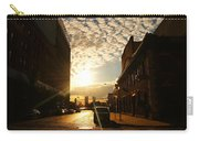 Summer Sunset Over A Cobblestone Street - New York City Carry-all Pouch