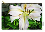 Summer White Madonna Lily Carry-all Pouch