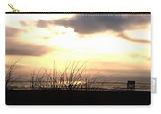 Sun Behind The Clouds On The Beach Carry-all Pouch