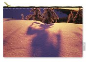 Sun Casting Shadows On Snow Covered Carry-all Pouch