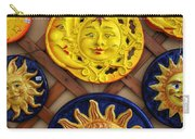 Sun Faces On The Island Of Capri Italy Carry-all Pouch