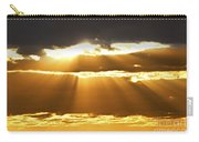 Sun Rays At Sunset Sky Carry-all Pouch by Elena Elisseeva