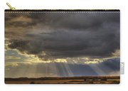 Sun Rays Through Clouds Over Three Old Carry-all Pouch