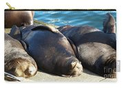 Sunbathing Sea Lions Carry-all Pouch