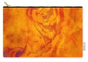 Sunburst Tiger On Fire Carry-all Pouch