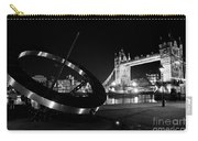 Sundial And Tower Bridge At Night Carry-all Pouch
