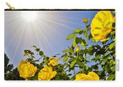 Sunflare And Yellow Roses Carry-all Pouch by Amber Flowers