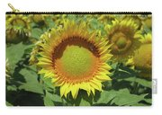 Sunflower And Honeybee July Two K O Nine Carry-all Pouch
