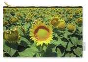 Sunflower And Honeybees July Two K O Nine  II Carry-all Pouch