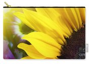 Sunflower Closeup In Landscape Carry-all Pouch