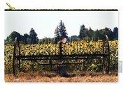 Sunflower Farm Scene Carry-all Pouch