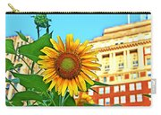 Sunflower In The City Carry-all Pouch