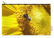 Sunflower With Bee Carry-all Pouch