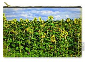 Sunflowers In France Carry-all Pouch by Joan  Minchak
