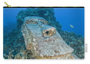 Sunken Moai, Easter Island, Chile Carry-all Pouch
