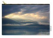 Sunlight And Clouds Over An Alpine Lake Carry-all Pouch