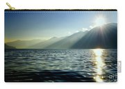 Sunlight Over A Lake With Mountain Carry-all Pouch