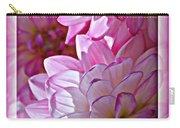 Sunlight Through Pink Dahlias Carry-all Pouch by Carol Groenen