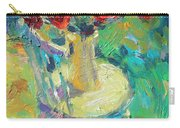 Sunny Impressionistic Rose Flowers Still Life Painting Carry-all Pouch