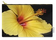 Sunny Yellow Hibiscus Flower Carry-all Pouch