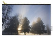 Sunray Through Trees And Fog Carry-all Pouch