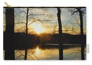 Sunrise Along The Delaware River Carry-all Pouch