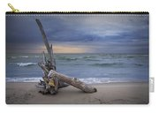 Sunrise On The Beach With Driftwood At Oscoda Carry-all Pouch