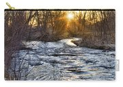 Sunrise On The St Vrain River Carry-all Pouch