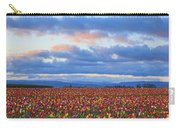 Sunrise Over A Tulip Field At Wooden Carry-all Pouch