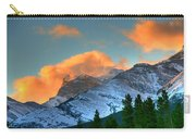 Sunrise Over Crowsnest Pass, Border Carry-all Pouch