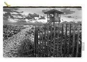 Sunrise Sentinel In Black And White Carry-all Pouch