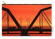 Sunrise Walnut Street Bridge Carry-all Pouch by Tom and Pat Cory