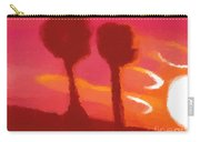 Sunset Abstract Trees Carry-all Pouch