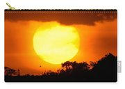Sunset And Bird Carry-all Pouch