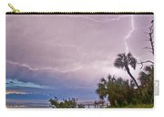 Sunset And Lightning Carry-all Pouch