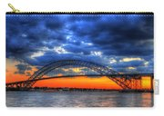 Sunset At The Bayonne Bridge Carry-all Pouch