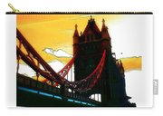 Sunset At Tower Brigde Carry-all Pouch