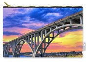 Sunset At Yaquina Bay Carry-all Pouch