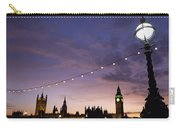 Sunset Behind Big Ben And The Houses Carry-all Pouch
