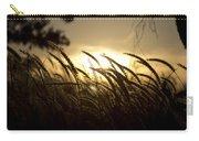 Sunset Behind Tall Grass Carry-all Pouch