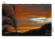 Sunset Behind The Palms Carry-all Pouch by Kaye Menner