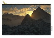 Sunset In The Stony Mountains Carry-all Pouch