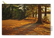 Sunset In Woods At Lake Shore Carry-all Pouch