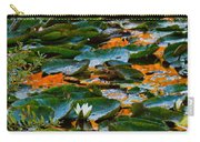 Sunset On A Lily Pond Carry-all Pouch