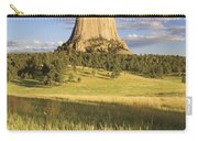Sunset On Devils Tower Wyoming United Carry-all Pouch