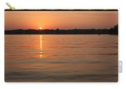 Sunset On Geist Reservoir In Lawrence In Carry-all Pouch